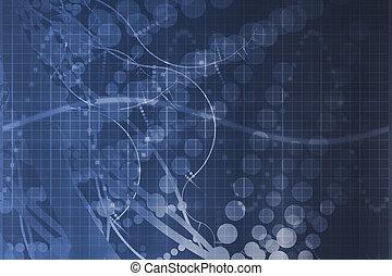 azul, ciência, tecnologia médica, abstratos, futurista