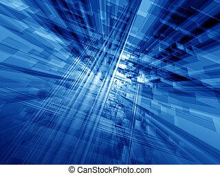 azul, ciberespacio