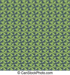azul, circles., experiência verde
