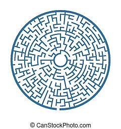 azul, circular, labirinto