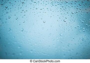 azul, ciudad, natural, vidrio, patrón, lluvia, fondo.,...