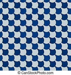 azul, clásico, seamless, morisco, ornamento