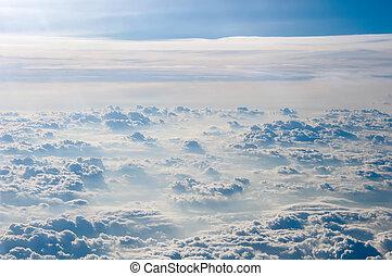 azul, cloudscape, cielo, plano de fondo, cloud., blanco