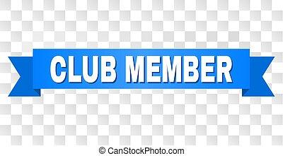 azul, club, miembro, cinta, título
