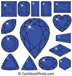 azul, cobrança, diamantes