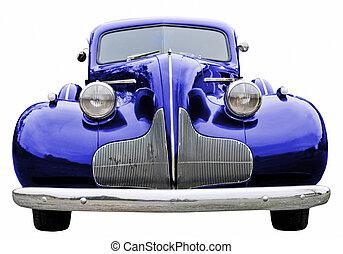 azul, coche clásico