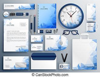 azul, colateral, resumen, conjunto, empresa / negocio