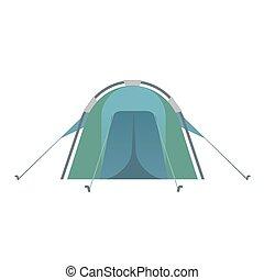 azul, colorido, barraca