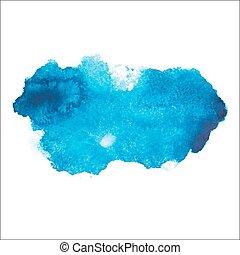 azul, coloridos, abstratos, mão, desenhar, watercolour,...