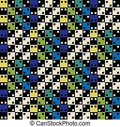 azul, coloridos, padrão, pattern., seamless, superfície, ilusão, vetorial, verde, óptico, geomã©´ricas, design.