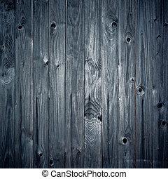 azul, composition., quadrado, madeira, vindima, fundo
