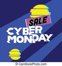 azul, compras, lunes, tela, en línea, venta, cyber, descuento, tienda, fondo., internet, store., publicidad, concet.