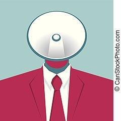 azul, concepto, empresa / negocio, aislado, fondo., design.