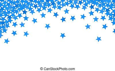 azul, confeti, blanco, estrellas, forma