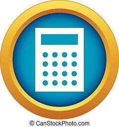 azul, contabilidad, vector, aislado, icono