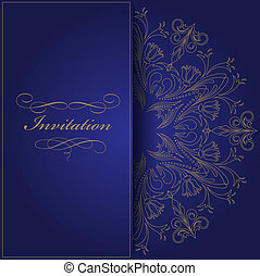 azul, convite