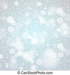 azul, copos de nieve, luz, resumen, vector, plano de fondo, ...