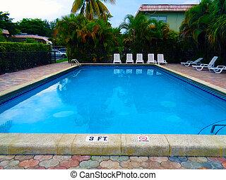azul, cor, água, piscina, vibrante