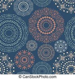 azul, cor, padrão, tribal, pattern., seamless, geométrico, boho, étnico, ornaments.