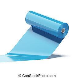 azul, cor, plástico, rolo