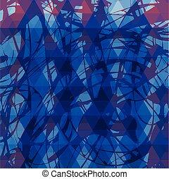 azul, cor, vindima, fundo, rtro, grungy