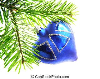 azul, coração, natal