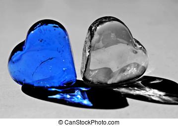 azul, corazón
