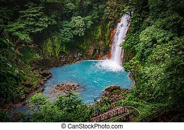 azul, costa, celestial, parque nacional, cascada, tenorio, volcan, rica