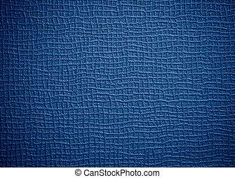 azul, couro, áspero, fundo