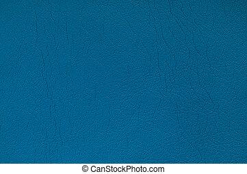 azul, couro, fundo
