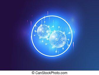 azul, covid-2019, fondo., coronavirus, público, riesgo, ...