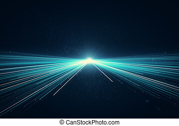 azul, creativo, plano de fondo, rayo