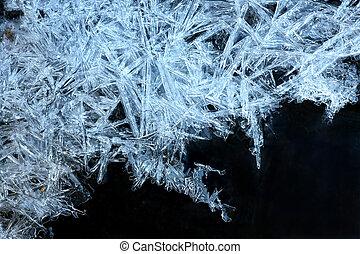 azul, cristais, gelo