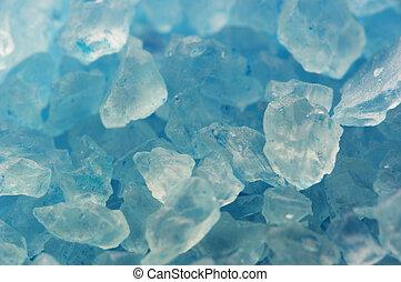 azul, cristales, macro