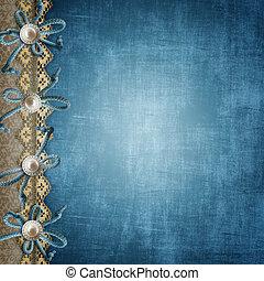 azul, cubierta del álbum, o, página, para, fotos