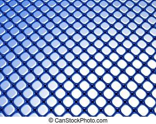 azul, cubo, lujo, brillante, pauta fondo