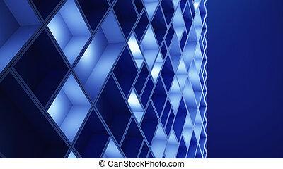 azul, cubos, illustration., padrão, abstratos, board., experiência., circuito, alta tecnologia, tecnologia, 3d
