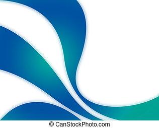 azul, curvas