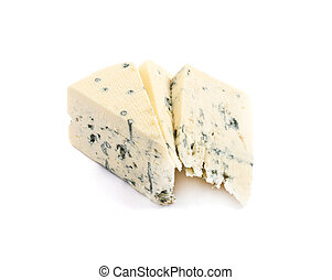 azul, danés, danablue, aislado, queso