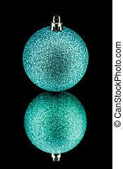 azul, decoração, pretas, natal