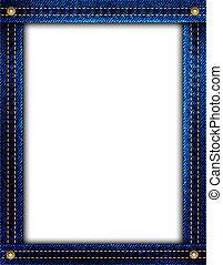 azul, denim, quadro