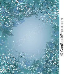 azul, destello, navidad, plano de fondo, invierno