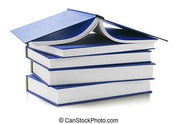 azul, difícil, cobertura, livros