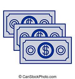 azul, dinheiro, jogo, silueta, contas