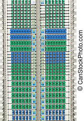 azul, dirección, óptico, cable, sistema, conectores, fibra, verde, sc