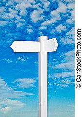azul, dirección, cielo, aislado, señal, plano de fondo,...