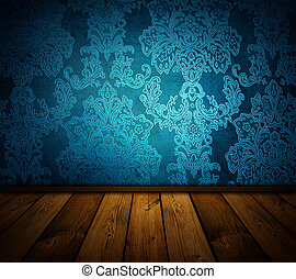 azul, disponível, vindima, -, interior, imagens, afiado, semelhante