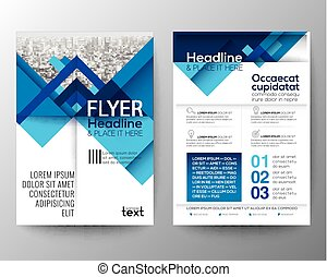 azul, disposición, Plano de fondo, cartel, Extracto,  vector, diseño, plantilla, folleto, geométrico, aviador