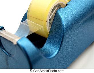 azul, distribuidor, fita