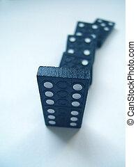 azul, dominós
